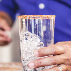 Sea Island Salt on a Glass rim